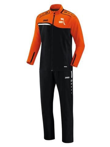 Vrijetijdspak Competition 2.0 zwart-fluo oranje